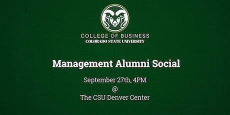 CSU College of Business Management Alumni Social tickets