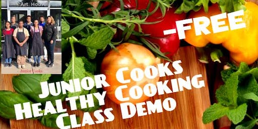 Junior Cooks Healthy Cooking Class Demo Ages 10-17
