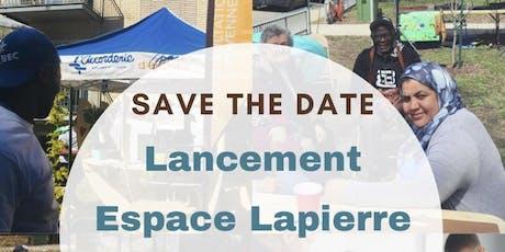 Lancement de l'Espace Lapierre billets