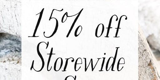 Storewide 15% off Sale at Tattered Tiques