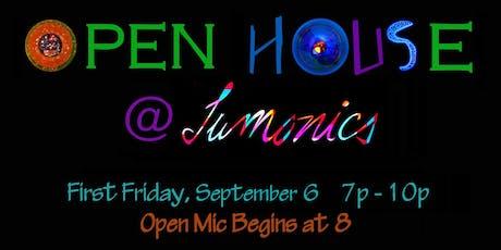 First Friday Open House/Open Mic at Lumonics  tickets