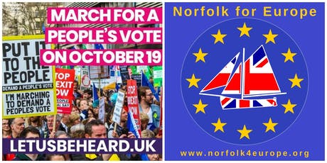 People's Vote march 19 October: coach travel from Norwich (return trip) tickets