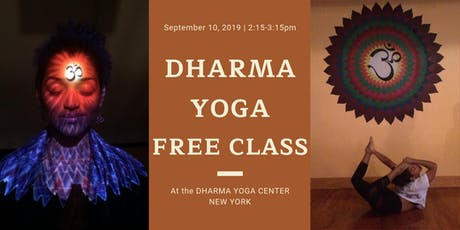 Free Dharma Yoga 3 class @ Dharma Yoga Center New York tickets