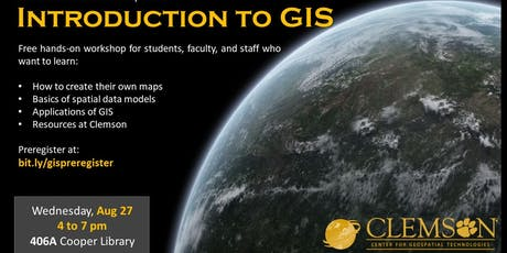 Introduction to GIS (in ArcGIS Pro) tickets