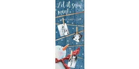 Snowman Photo Pallet Sign Art Paint Maker Party Sip & Create Class tickets