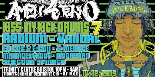 Kiss My Kick Drums 7 Ft Radium
