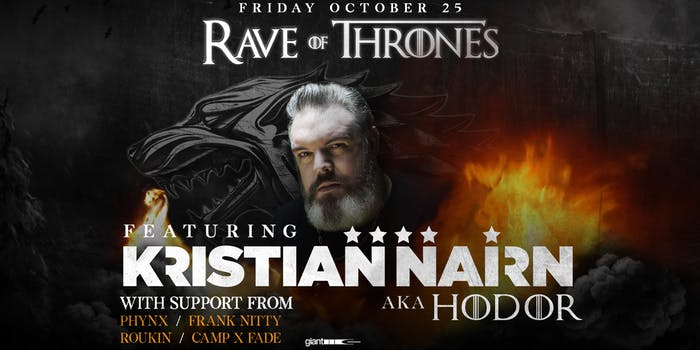 Rave Of Thrones, Kristian Nairn – Los Angeles – Oct 25