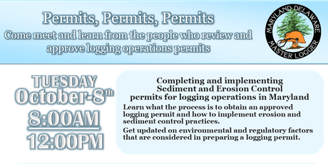 Sediment and Erosion Control Permits for Logging Operations in Maryland tickets
