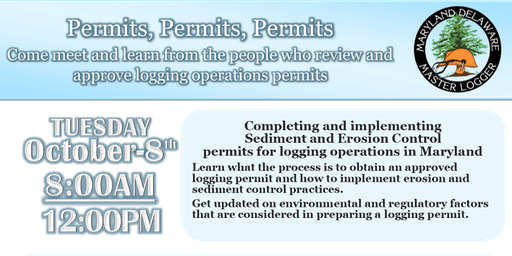 Sediment and Erosion Control Permits for Logging Operations in Maryland