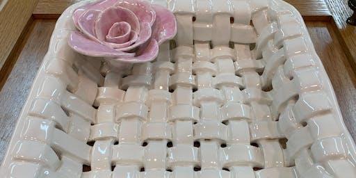 Ceramic Basket: Weave It