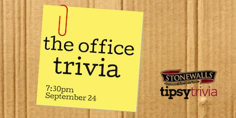 The Office Trivia - Sept 24, 7:30pm - Stonewall's Hamilton tickets