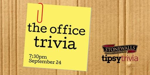 The Office Trivia - Sept 24, 7:30pm - Stonewall's Hamilton