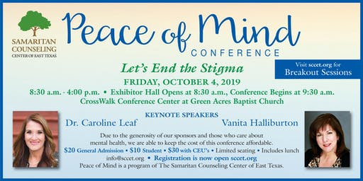 Peace of Mind 2019 - Let's End the Stigma