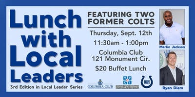 YPCI: Lunch with Local Leaders, Indpls Colts: Marlin Jackson and Ryan Diem