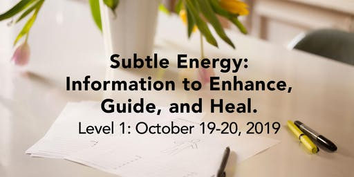 OCT 19/20 WORKSHOP: Subtle Energy: Information to Enhance, Guide, and Heal. LEVEL 1