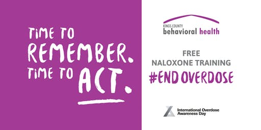 Free Naloxone Training - Time to Act #endoverdose