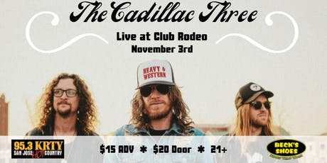 95.3 KRTY and BECK'S SHOES PRESENT THE CADILLAC THREE tickets