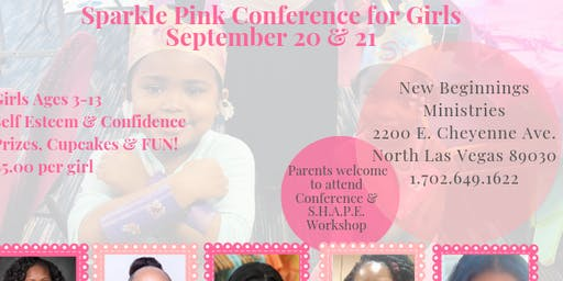 Sparkle Pink Conference for Girls ages 3-13