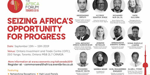 The Africa Forum Canada 2019! Seizing Africa's Opportunity for Progress