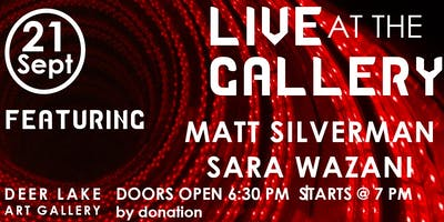Live at the Gallery - September 21