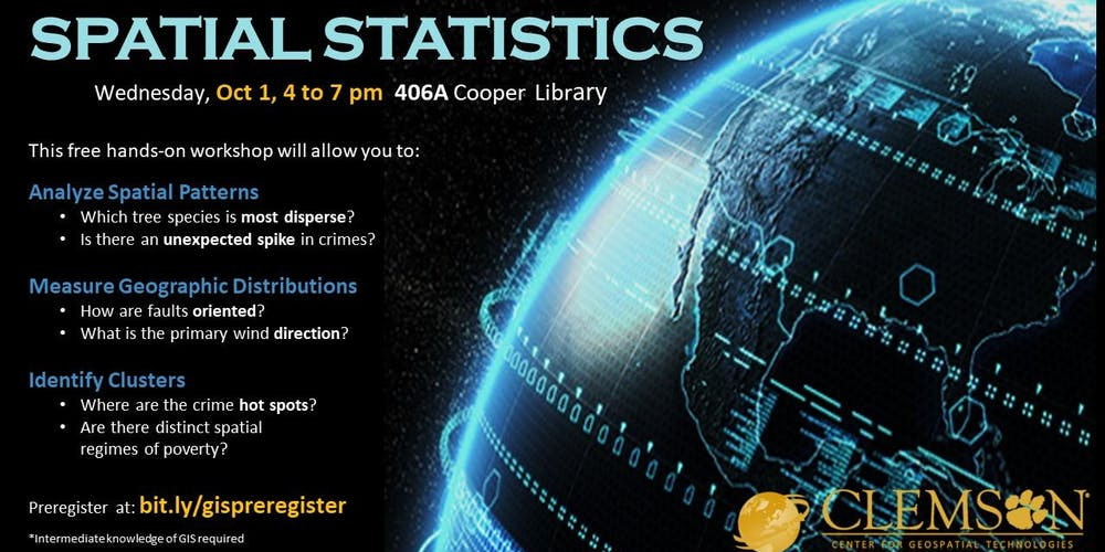 Basic Spatial Statistics (in ArcGIS Pro) Tickets, Tue, Oct 1