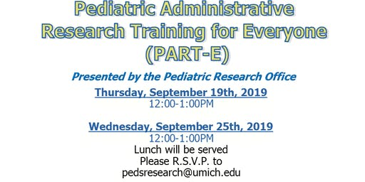 Pediatrics Admintrative Research Training for Everyone (PART-E)