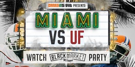 MIAMI vs UF Watch Party at Black Market Miami tickets