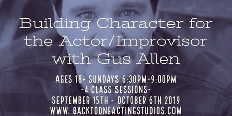 Building Character for the Actor/Improvisor tickets