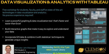 Data Visualization and Analytics with Tableau tickets