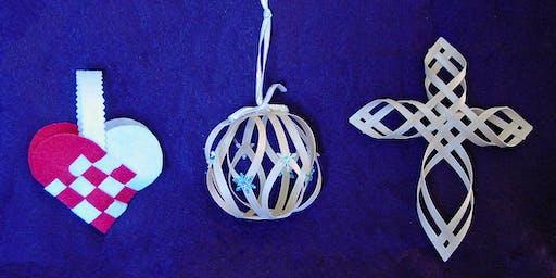Scandinavian Woven Holiday Ornaments Workshop