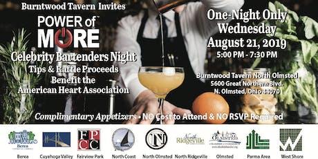 Celebrity Bartender Night-Tips, Proceeds Benefit American Heart Association tickets