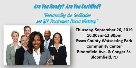 Essex County Small Business Development Certification & RFP Workshop tickets