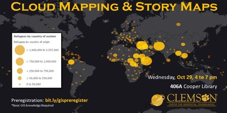 Intro to Cloud Mapping and Story Maps with ArcGIS Online tickets