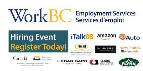 WorkBC South Surrey-White Rock Job Fair-Construction, Retail, Manufacturing tickets