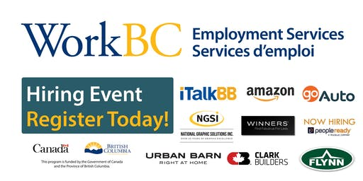 WorkBC South Surrey-White Rock Job Fair-Construction, Retail, Manufacturing