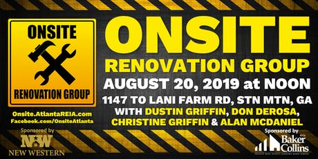 Onsite Renovation Group at Finished Stone Mountain Rehab Project tickets