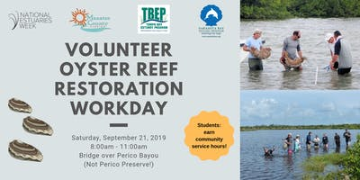 Volunteer Oyster Reef Restoration Workday for National Estuaries Week