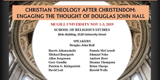 Christianity After Christendom Colloquium (Students FREE. Non Students $35.00 perday))