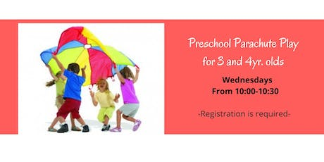 Preschool Parachute Play for Ages 3 and 4 year Old Children