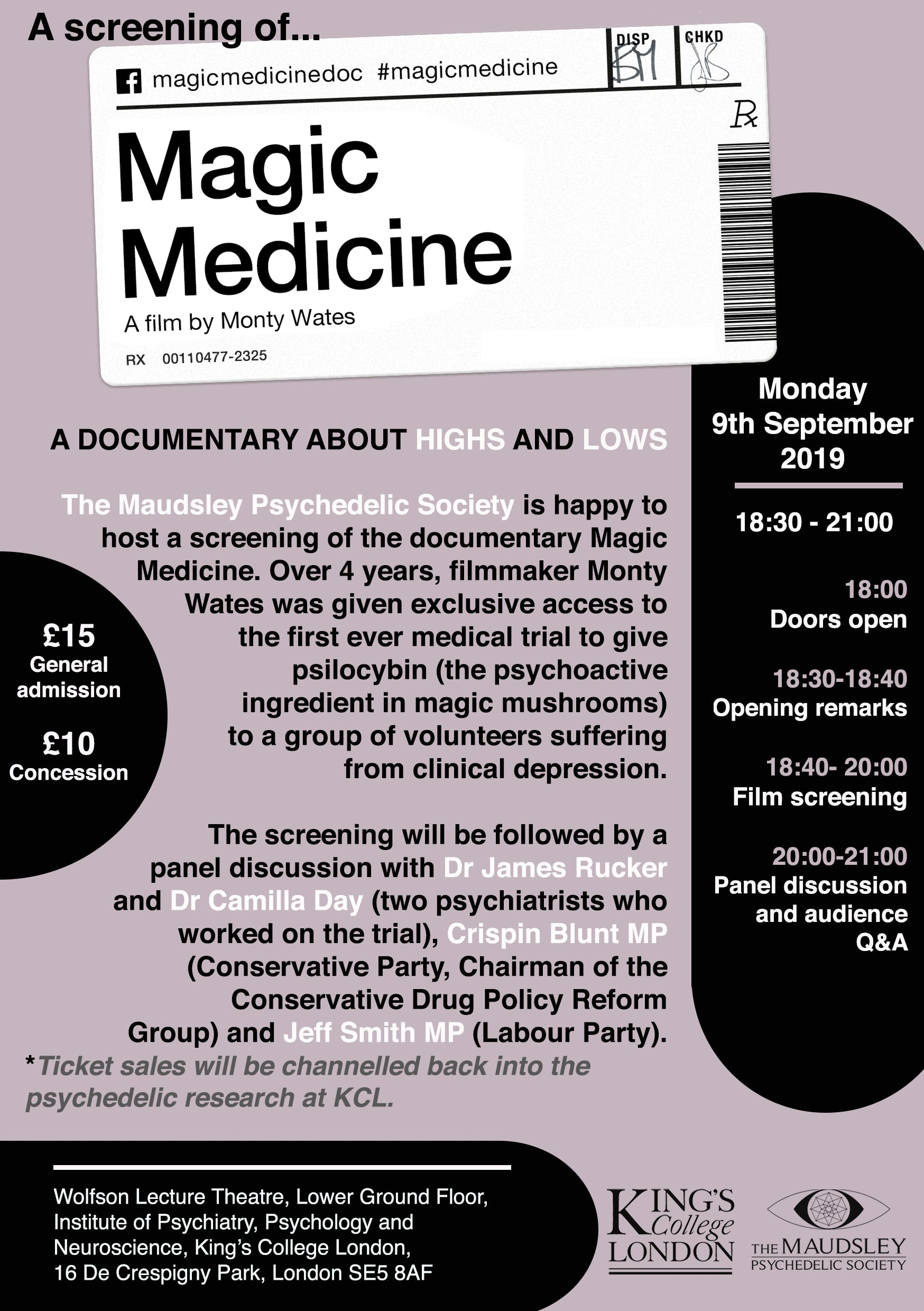 Magic Medicine: A Documentary About Highs and Lows + Panel Discussion