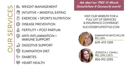 Free 15 Minute Nutrition Consult tickets