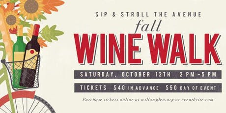 Willow Glen Fall Wine Walk 2019 tickets