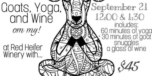 Goats, Yoga, and Wine at Red Heifer Winery 12:00