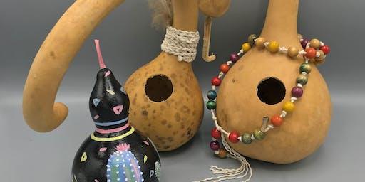 Gourd Bird House Art