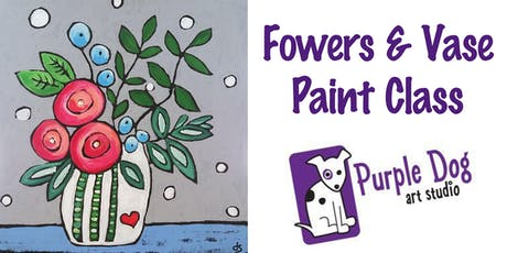 Flowers & Vase Painting Class tickets