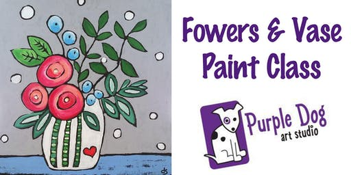 Flowers & Vase Painting Class
