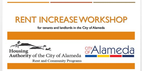 City of Alameda Rent Increase Workshop tickets