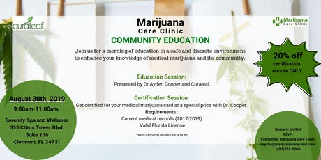 Marijuana Care Clinic's Community Education tickets
