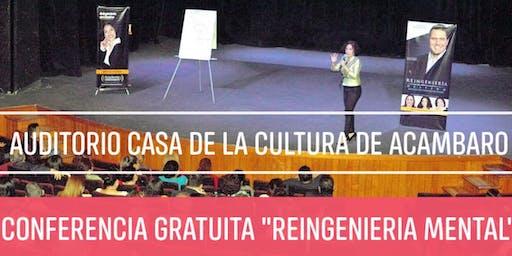 """CONFERENCIA GRATUITA """"REINGENIERÍA MENTAL"""""""