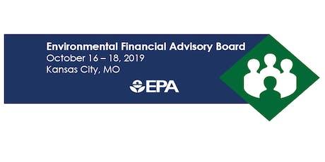 US EPA Environmental Financial Advisory Board October 2019 Meeting tickets
